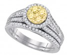 Diamond Bridal Ring Set 14K White Gold 1.00 ct. GD-87732