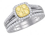 Diamond Bridal Ring Set 14K White Gold 1.00 ct. GD-87736