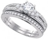 Diamond Bridal Ring Set 14K White Gold 1.00 ct. GD-88516