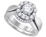 Ladies Two Piece Set 14K White Gold 1.07 cts. GD-90090