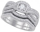 Ladies Two Piece Set 10K White Gold 0.50 cts. GD-92210