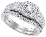 Ladies Two Piece Set 10K White Gold 0.50 cts. GD-92214