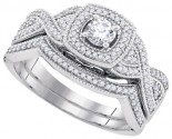 Ladies Two Piece Set 10K White Gold 0.50 cts. GD-92216