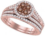 Ladies Two Piece Set 14K Rose Gold 1.00 ct. GD-92673
