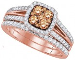 Ladies Two Piece Set 14K Rose Gold 1.00 ct. GD-92674