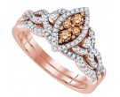 Ladies Two Piece Set 14K Rose Gold 0.51 cts. GD-92675