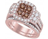 Ladies Two Piece Set 14K Rose Gold 2.00 ct. GD-92676