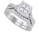Ladies Two Piece Set 14K White Gold 1.26 cts. GD-93624