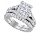 Ladies Two Piece Set 14K White Gold 1.51 cts. GD-93659