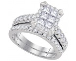 Ladies Two Piece Set 14K White Gold 1.50 cts. GD-93661