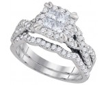 Ladies Two Piece Set 14K White Gold 1.26 cts. GD-93663