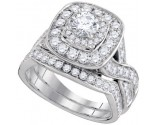 Ladies Two Piece Set 14K White Gold 1.97 cts. GD-95531