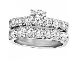Ladies Two Piece Set 14K White Gold 1.25 cts. GS-20277