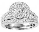 Ladies Two Piece Set 14K White Gold 1.50 cts. GS-21174