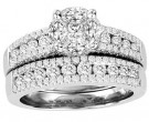 Ladies Two Piece Set 14K White Gold 1.80 cts. GS-21223