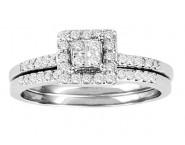 Ladies Two Piece Set 10K White Gold 0.33 cts. GS-21781