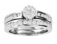 Ladies Two Piece Set 14K White Gold 1.00 ct. GS-21798