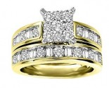 Ladies Two Piece Set 14K Two Tone Gold 1.90 cts. GS-21799