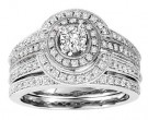 Ladies Two Piece Set 14K White Gold 1.00 ct. GS-21925W