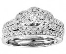 Ladies Two Piece Set 14K White Gold 0.50 cts. GS-21928
