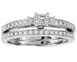 Ladies Two Piece Set 14K White Gold 0.50 cts. GS-21929