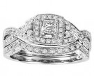 Ladies Two Piece Set 14K White Gold 0.50 cts. GS-21933