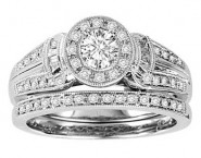 Ladies Two Piece Set 14K White Gold 0.50 cts. GS-21936
