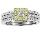 Ladies Two Piece Set 14K Two Tone 0.65 cts. GS-21937T