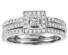 Ladies Two Piece Set 14K White Gold 0.65 cts. GS-21937W