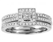Ladies Two Piece Set 14K White Gold 0.65 cts. GS-21937W [GS-21937W]