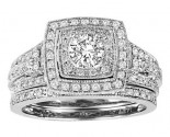 Ladies Two Piece Set 14K White Gold 1.00 ct. GS-21941