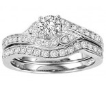 Ladies Two Piece Set 14K White Gold 1.00 ct. GS-21943