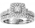 Ladies Two Piece Set 14K White Gold 0.50 cts. GS-21947