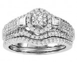 Ladies Two Piece Set 14K White Gold 1.00 ct. GS-21949