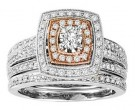 Ladies Two Piece Set 14K Rose Gold 1.00 ct. GS-21952R