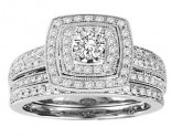 Ladies Two Piece Set 14K White Gold 1.00 ct. GS-21952W