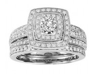 Ladies Two Piece Set 14K White Gold 1.00 ct. GS-21952W [GS-21952W]