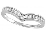 Ladies Diamond Curved Band 10K White Gold 0.25 cts. GS-26620