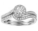 Ladies Two Piece Set 14K White Gold 0.50 cts. GS-50139