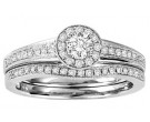 Ladies Two Piece Set 14K White Gold 0.50 cts. GS-50141