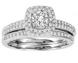 Ladies Two Piece Set 14K White Gold 0.75 cts. GS-50143