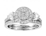 Ladies Two Piece Set 14K White Gold 1.00 ct. GS-50147 [GS-50147]
