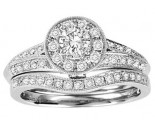 Ladies Two Piece Set 14K White Gold 1.00 cts. GS-50148