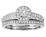Ladies Two Piece Set 14K White Gold 1.00 ct. GS-50151