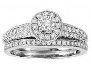Ladies Two Piece Set 14K White Gold 1.00 ct. GS-50151 [GS-50151]