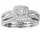 Ladies Two Piece Set 14K White Gold 0.75 cts. GS-50155