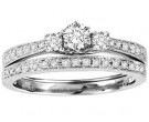 Ladies Two Piece Set 14K White Gold 0.50 cts. GS-50156