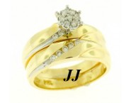 Ladies Two Piece Set 14K Yellow Gold 0.38 cts. LTSD-211