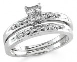 Ladies Two Piece Set 14K White Gold 0.33 cts. S14-16