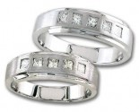 Two Piece Wedding Set 14K White Gold 0.90 cts. S19-2324